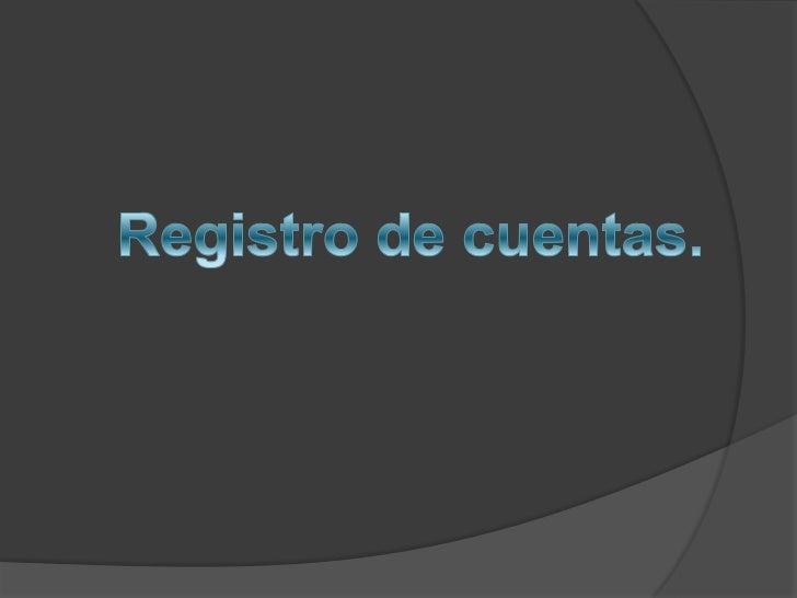 Registro de cuentas