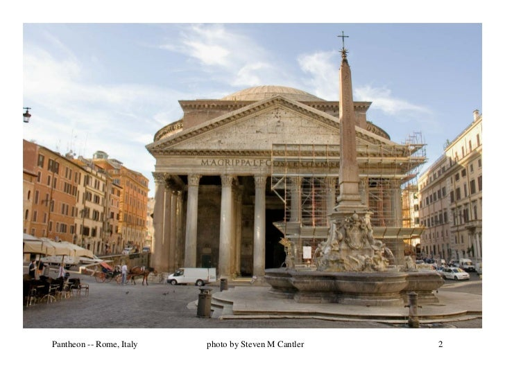 Pantheon -- Rome, Italy   photo by Steven M Cantler   2
