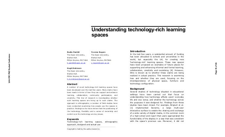 Understanding technology-rich learning                                                                 spaces             ...