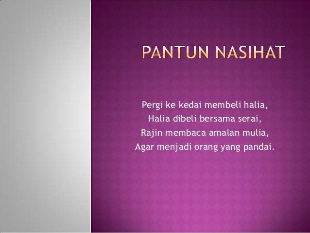 Pantun Nasihat Slideshare | Share The Knownledge