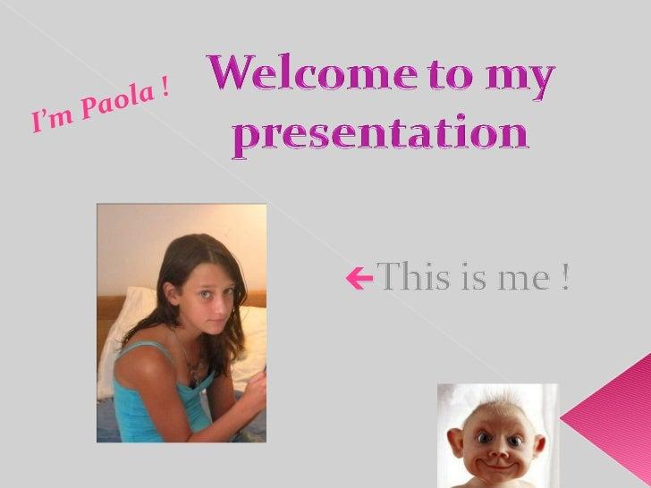I'm Paola !