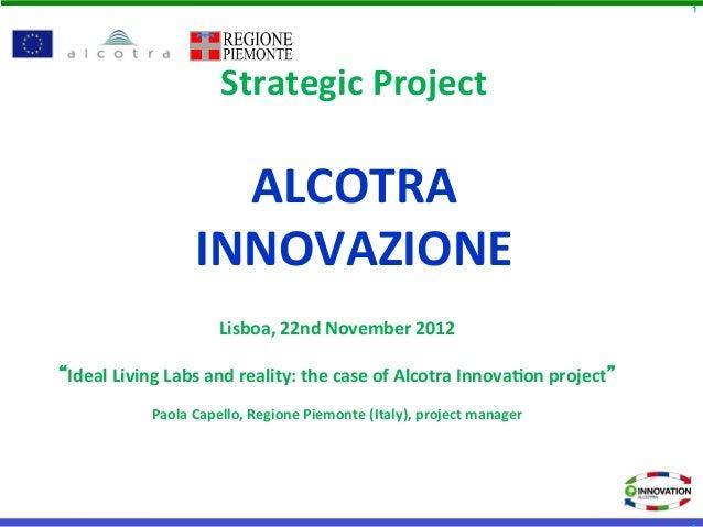 Paola Capello - Alcotra Innovazione