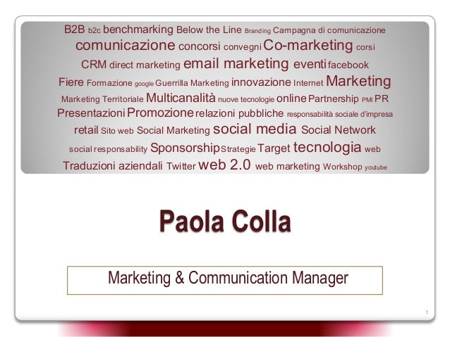 Paola Colla Marketing Communications Consultant