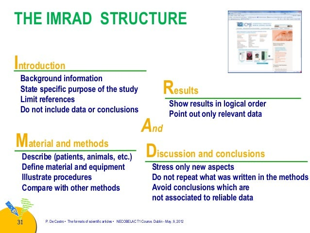Organization Research Paper The Imrad Organization