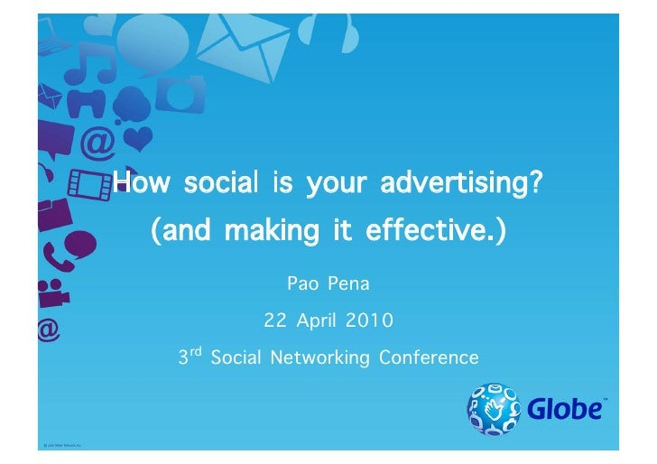 How social is your advertising?