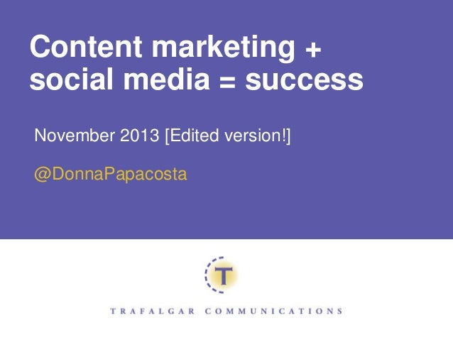 Integrating Content Marketing and Social Media