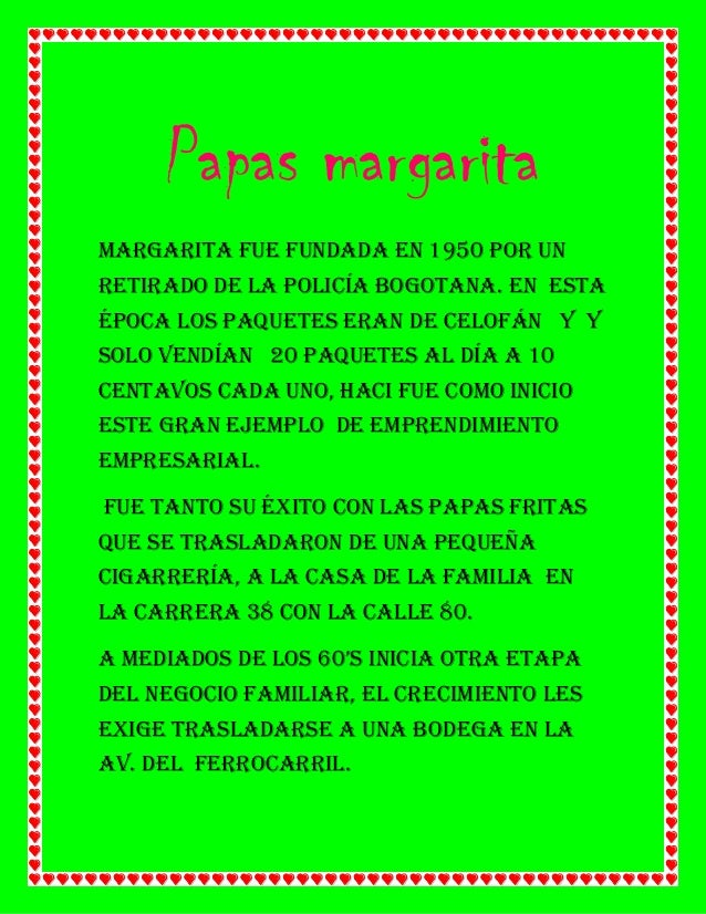 Papas margarita