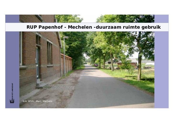 Studiedag naar de ecopolis Vlaanderen (6-2-2010) - Papenhof duurzaam ruimtegebruik