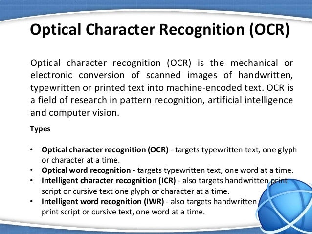 optical character recognition research papers