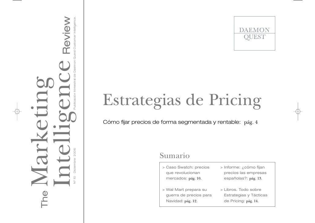 Estrategias de Pricing