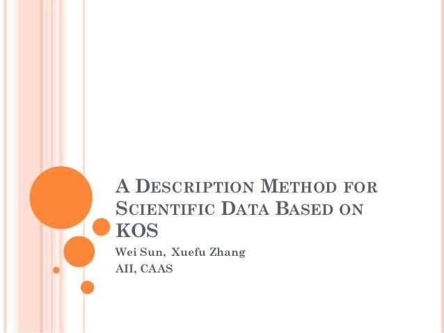 A Description Method for Scientific Data Based on KOS