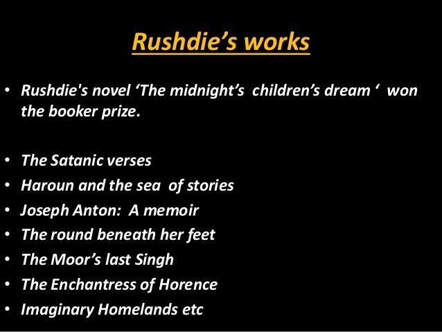 imagine there s no heaven salman rushdie essay response Imagine there's no heaven by salman rushdie imagine there's no heaven is a letter to a young boy that updike ended his essay with sammys thought and.