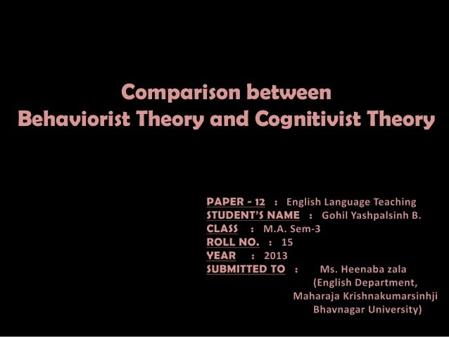 Comparison between behaviorist theory and cognitivist theory