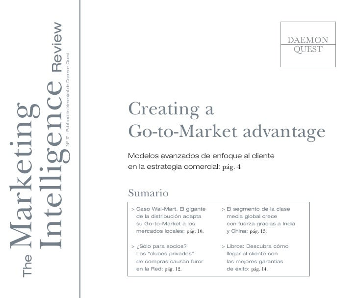 Creating a Go-to-Market advantage
