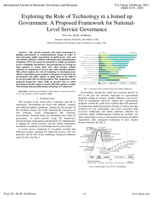 Exploring the Role of Technology in a Joined up Government: A Proposed Framework for National-Level Service Governance