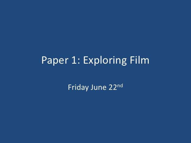 WJEC GCSE Paper 1 Explanation 2012