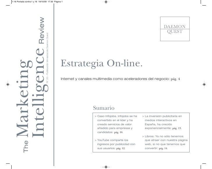 1-16 Portada contra:1 y 16 19/10/09 17:30 Página 1    Intelligence Review          Nº 20 - Publicación trimestral de Daemo...