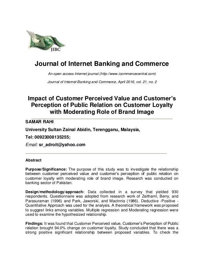 Customer perception of value