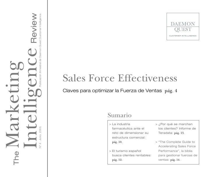 Intelligence Review                 Publicación trimestral de Daemon Quest Customer Intelligence.Marketing                ...