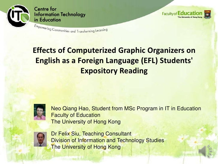 Effects of Computerized Graphic Organizers on English as a Foreign Language (EFL) Students               Expository Readin...