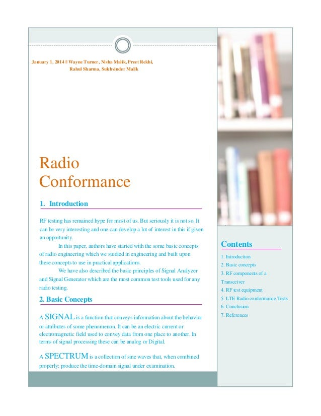 Radio Conformance Test