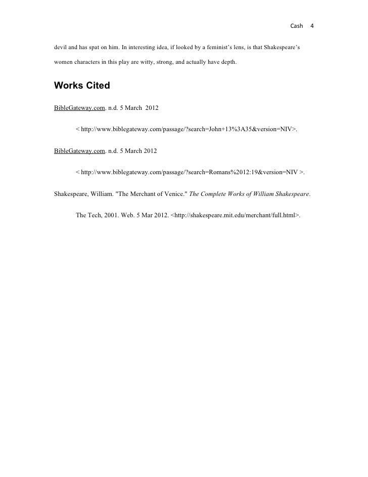 Essay on shylock