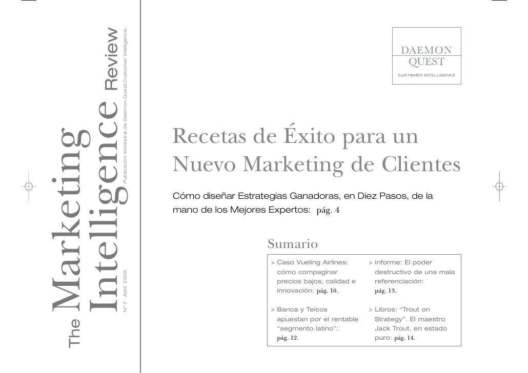 Recetas de Éxito para un Nuevo Marketing de Clientes