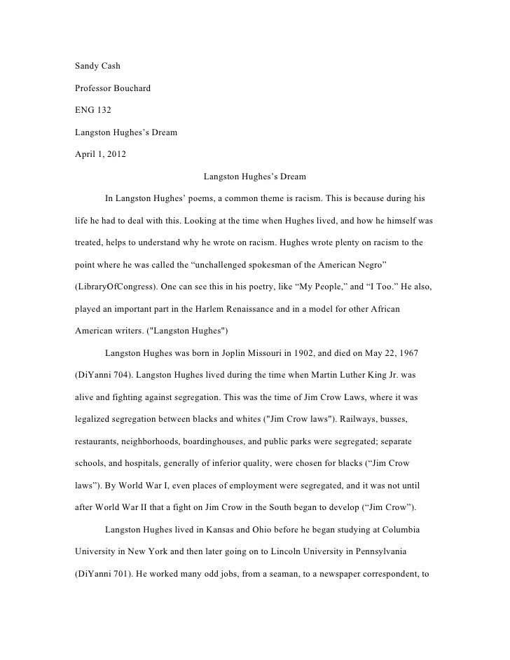 langston hughes essay langston hughes poetry essay alevel english  langston hughes essay odol my ip mepaper langston hughes s dreamsandy cashprofessor bouchardeng langston hughes s