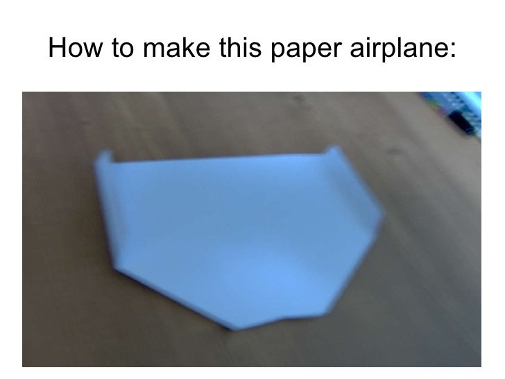 Paper airplane ppt