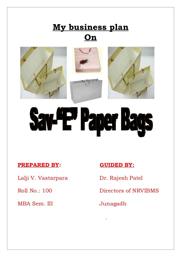 Paper bag  business proposal eco friendly
