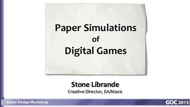 Paper games 2013
