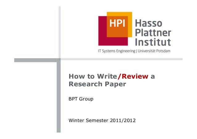 guide to write a research paper
