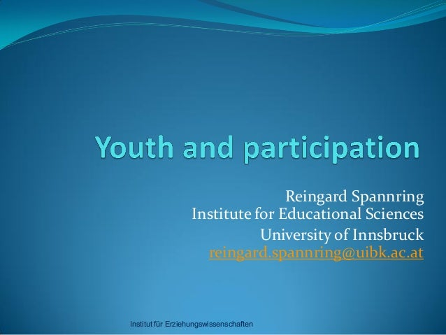 Reingard Spannring - Youth and Participation