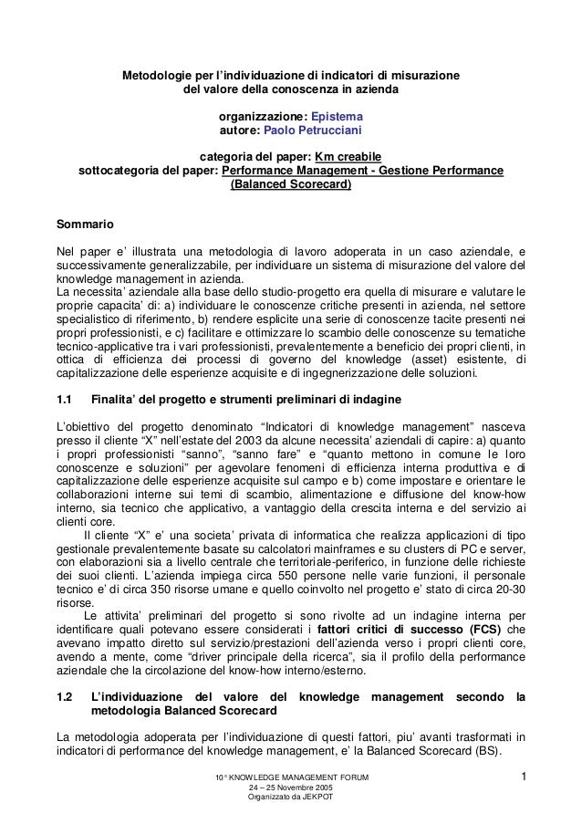 Intervento 10' KM Forum  - Jekpot - 25 november 2005 - Siena