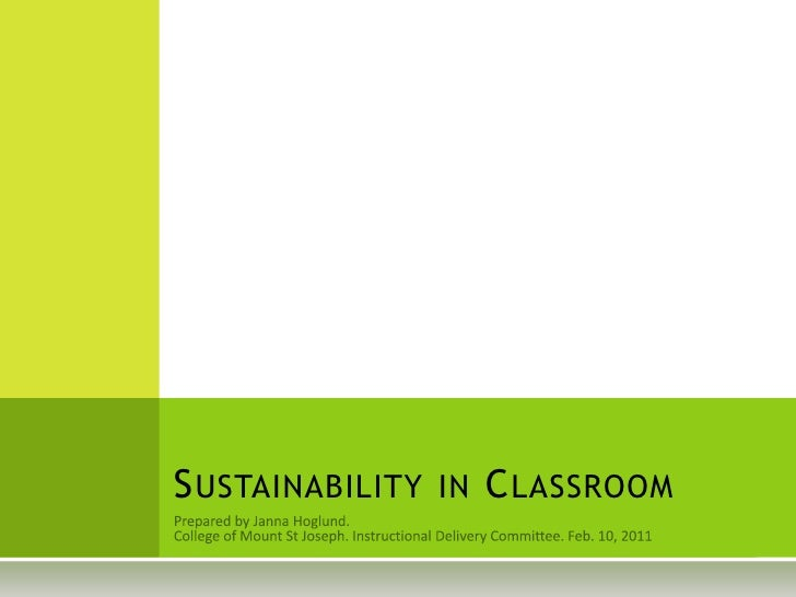 Sustainability in Classroom