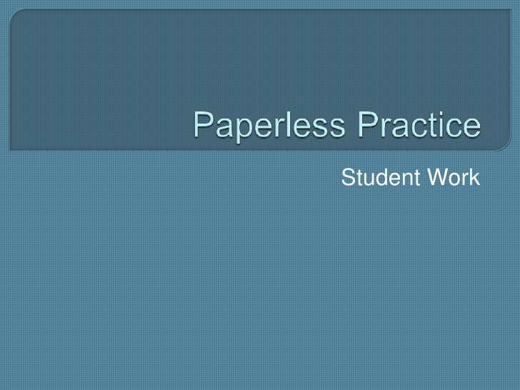 Student Productivity - Paperless Alternatives