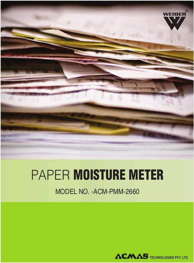 Paper Moisture Meter by ACMAS Technologies Pvt Ltd.