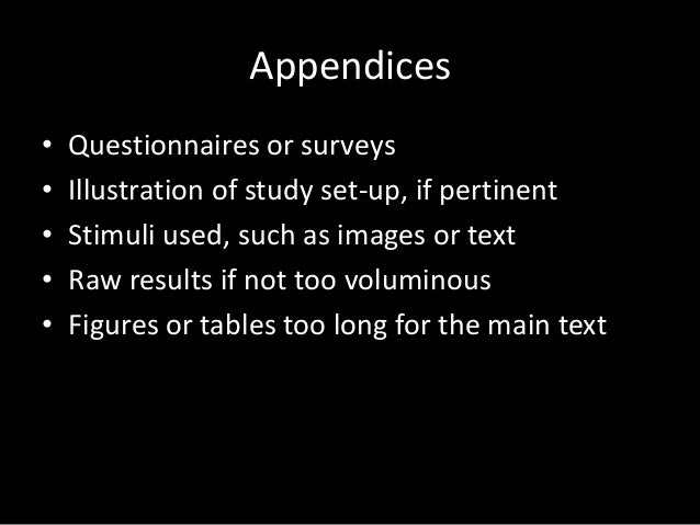 What is an appendix? I need it for a paper im writing.?
