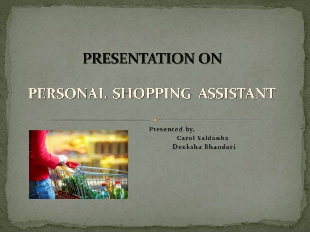 personal shopping assistant