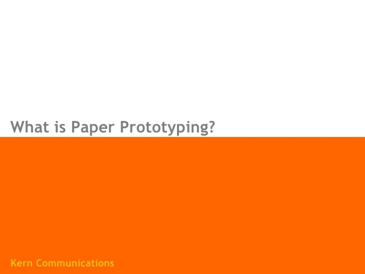 What is Paper Prototyping? Kern Communications