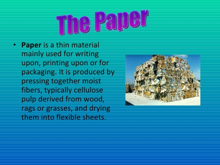 Recycled writing paper