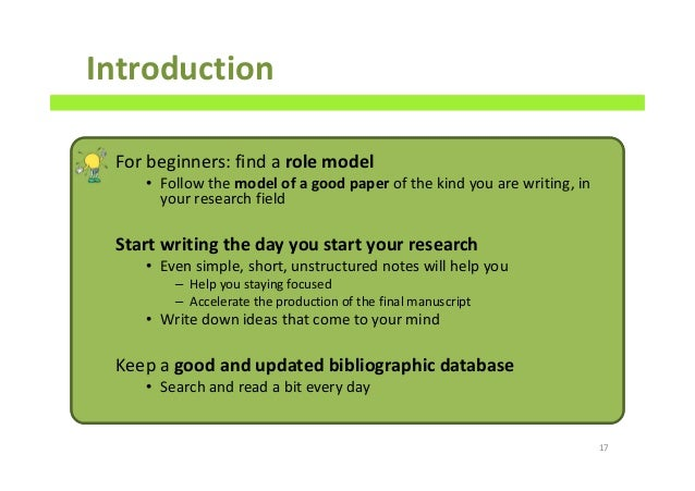how to create a good introduction for a research paper