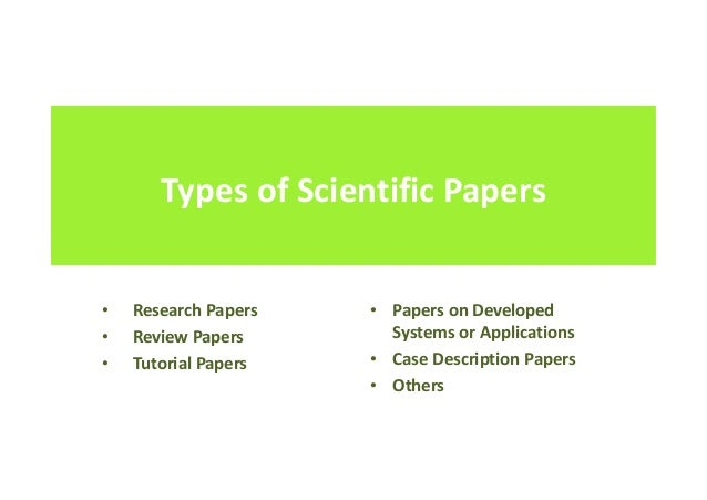Information Systems writing paper types