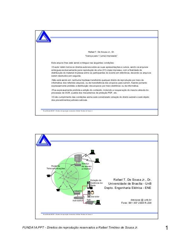 1FUNDA1A.PPT - Direitos de reprodução reservados a Rafael Timóteo de Sousa Jr. TecnolRedes052001 - Direitos de reprodução ...