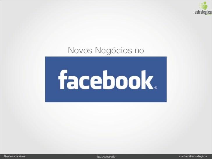 Novidades do Facebook para Negócios