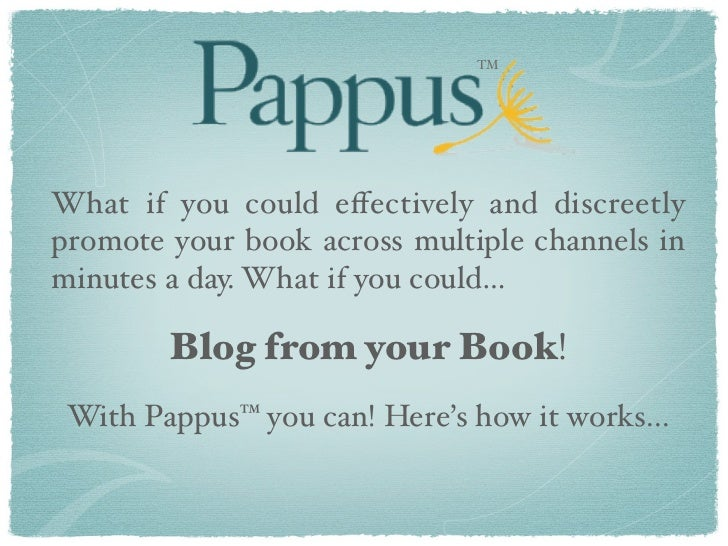 TMWhat if you could effectively and discreetlypromote your book across multiple channels inminutes a day. What if you could...