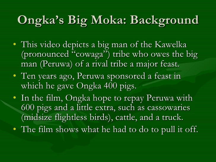 ongka s big moka Ongka's big moka - duration: 50:22 utopianlove 14,143 views 50:22 ongka's big moka - preview - duration: 1:26 docued 8,587 views the big bang theory - sheldon and penny exchange presents - duration: 4:48 dasobst 725,687 views.