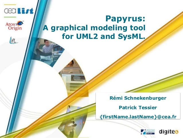 Papyrus: A graphical modeling tool for UML2 and SysML. Rémi Schnekenburger Patrick Tessier {firstName.lastName}@cea.fr