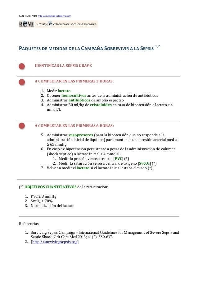 ISSN: 1578-‐7710. http://medicina-‐intensiva.com  PAQUETES DE MEDIDAS DE LA CAMPAÑA SOBREVIVIR A ...