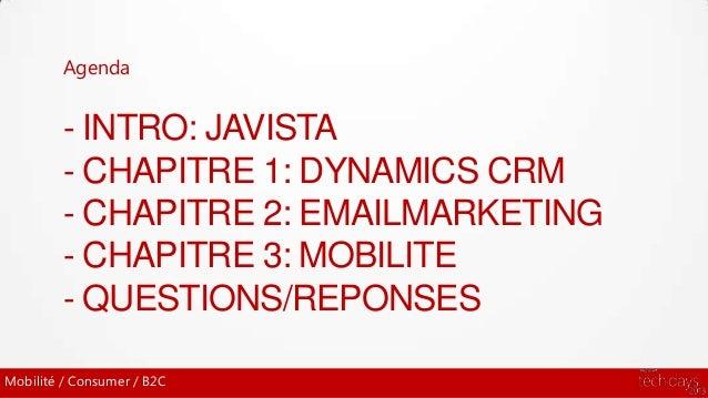 Solutions Email Marketing et Mobilité dans Dynamics CRM